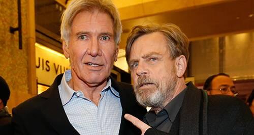 Première en Hollywood de Star Wars, Harrison Ford, Mark Hamill