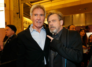 Harrison Ford y Mark Hamill.