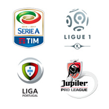 Serie A, Ligue 1, Pro League, Primeira Liga