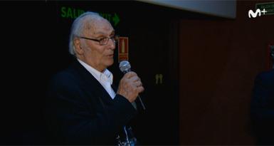 Carlos Saura en la première de Zaragoza