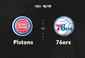 NBA: Temporada Regular(Octubre - Noviembre) - Detroit Pistons - Philadelphia 76ers