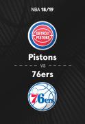 NBA: Temporada Regular (Octubre - Noviembre) - Detroit Pistons - Philadelphia 76ers