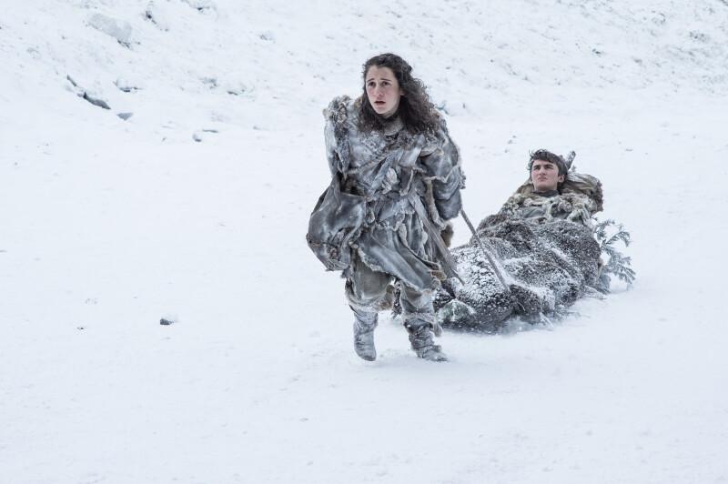 Meera Reed y Bran Stark