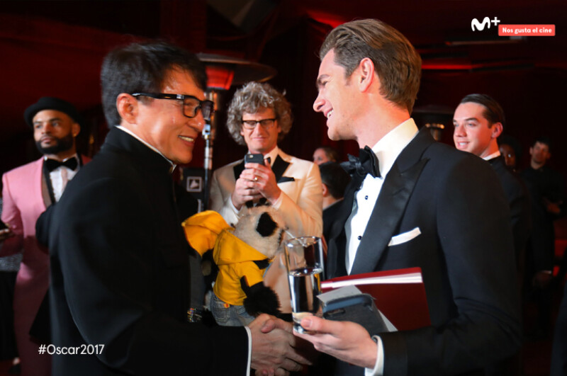 Jackie Chan y Andrew Garfield