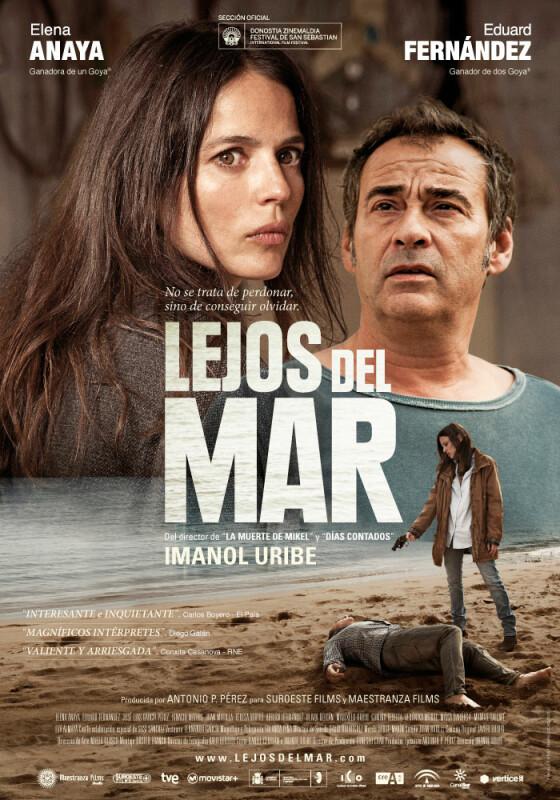 Lejos del mar, cartel, Eduard Fernández, Elena Anaya, Imanol Uribe