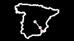 Justo y César mapa
