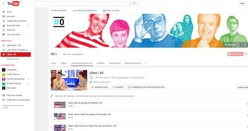 Likes en Youtube