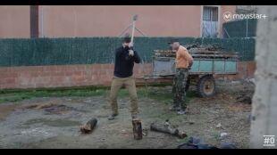 WEB LAHUIDA: Programa 6 - Robert y Toño cortan leña