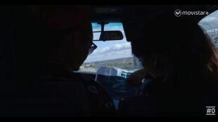 LA HUIDA. PROGRAMA 9.  Marta y Mónica nerviosas en el coche