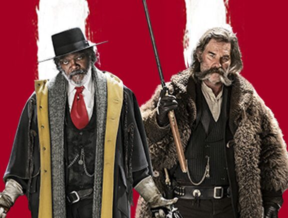 Los odiosos ocho, Quentin Tarantino, Samuel L. Jackson, Jennifer Jason Leigh, Kurt Russell, Ennio Morricone