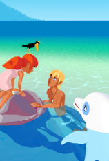 Zoom, el delfín blanco