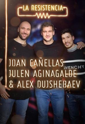 Joan Cañellas, Julen Aginagalde y Alex Dujshebaev