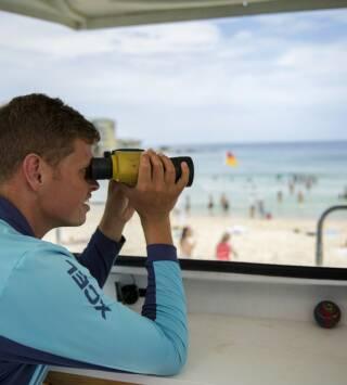 Australia: rescate en la playa