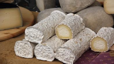 ¿Cómo se elabora? - Queso de rulo de cabra, crema de cacahuete y foie gras trufado.