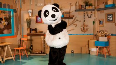 Panda y la cabaña de cartón - Baloncesto en la cabaña