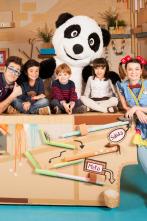 Panda y la cabaña de cartón - Calcetines marioneta