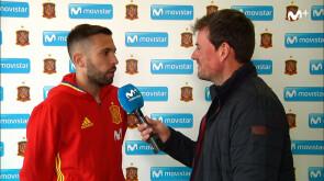 Jordi Alba, su 28 cumpleaños en la Selección
