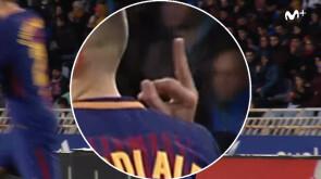 La peineta de Jordi Alba en Anoeta