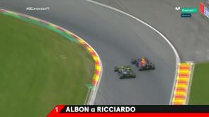 Los mejores adelantamientos del GP de Bélgica