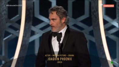 Globos de Oro 2020. Joaquin Phoenix - Mejor actor de drama ('Joker')